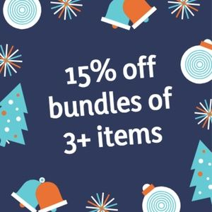 15% off 3+ items